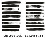 calligraphy paint wide brush... | Shutterstock .eps vector #1582499788