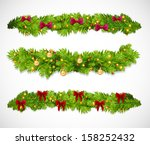 christmas garlands. vector... | Shutterstock .eps vector #158252432