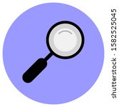 magnifying glass icon with a...