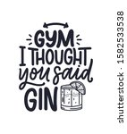 funny phrase in hand drawn... | Shutterstock .eps vector #1582533538