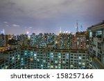 apartment block with balconies... | Shutterstock . vector #158257166