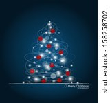 christmas background with... | Shutterstock .eps vector #158258702