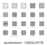 fabric sample flat line icons... | Shutterstock .eps vector #1582612978