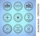 set of round hollow badges.... | Shutterstock .eps vector #158262326
