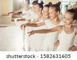 Little kids ballerinas in...