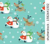 christmas seamless pattern with ... | Shutterstock .eps vector #1582641502