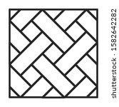 parquet floor vector icon.line... | Shutterstock .eps vector #1582642282
