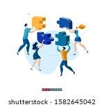 trendy flat illustration.... | Shutterstock .eps vector #1582645042