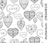 seamless pattern with hearts ...   Shutterstock .eps vector #1582648135