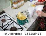 in the polish kitchen.... | Shutterstock . vector #158265416