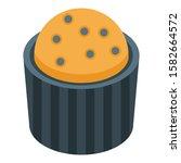 blackberry cupcake icon.... | Shutterstock .eps vector #1582664572