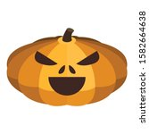 creepy pumpkin icon. isometric... | Shutterstock .eps vector #1582664638