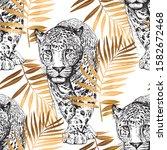 seamless wallpaper pattern....   Shutterstock .eps vector #1582672468
