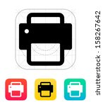 printer icon. vector...