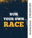 run your own race poster... | Shutterstock .eps vector #1582685185
