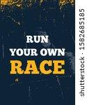 run your own race poster... | Shutterstock .eps vector #1582685185