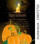 pumpkins with sprouts and... | Shutterstock .eps vector #158271722