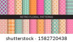 cute floral patterns. set of... | Shutterstock .eps vector #1582720438