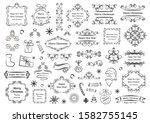 calligraphic design elements... | Shutterstock .eps vector #1582755145