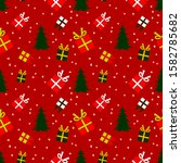 christmas and new year holiday... | Shutterstock .eps vector #1582785682