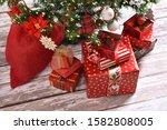 Stacks Of Presents Under...