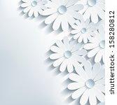 3d Cut Paper Flower Chamomile ...