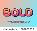 rounded bold font effect ...   Shutterstock .eps vector #1582832755