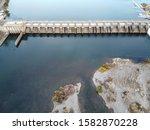 Nimbus Dam. Lake Natoma And...