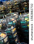 Crab Traps Stacked Up On A...