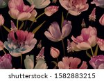 vintage floral seamless pattern.... | Shutterstock . vector #1582883215