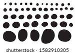 doodle shapes collection. black ... | Shutterstock .eps vector #1582910305