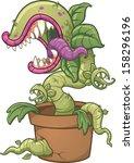 carnivorous plant. vector clip... | Shutterstock .eps vector #158296196
