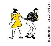 Swing Dance Couple  Guy In...