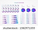 percentage vector infographic... | Shutterstock .eps vector #1582971355
