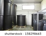 black barrels made of... | Shutterstock . vector #158298665