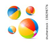 Colorful Vector Beach Balls...