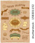 vintage banners and labels set... | Shutterstock .eps vector #158301152