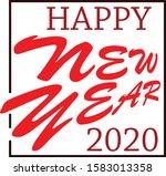 happy new year 2020 vector | Shutterstock .eps vector #1583013358