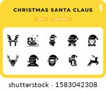 christmas santa claus glyph...