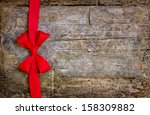 decorative red ribbon and bow... | Shutterstock . vector #158309882