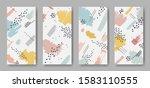 set of four vertical banners...   Shutterstock .eps vector #1583110555
