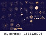 collection of mystical and... | Shutterstock .eps vector #1583128705