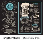 seafood menu template for... | Shutterstock .eps vector #1583139148