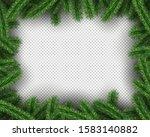 xmas green pine tree on...   Shutterstock .eps vector #1583140882