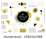abstract yellow and black... | Shutterstock .eps vector #1583161588