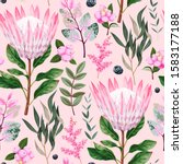vector seamless pattern with... | Shutterstock .eps vector #1583177188