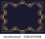 art deco frame with snowflakes. ... | Shutterstock .eps vector #1583192908