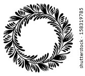 hand drawn  ornamental  black... | Shutterstock .eps vector #158319785