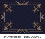 art deco frame with snowflakes. ... | Shutterstock .eps vector #1583206912