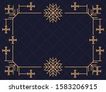art deco frame with snowflakes. ... | Shutterstock .eps vector #1583206915